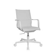 Topstar Bürostuhl Sitness Life 40, mit Armlehnen, 3D-Mechanik, Flachsitz, Netzrücken, weiß/weiß