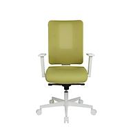 Topstar Bürostuhl Sitness Life 50, mit Armlehnen, 3D-Synchronmechanik, Muldensitz, Netzrücken, senfgrün/weiß