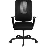 Topstar Bürostuhl SITNESS OPEN X, mit Armlehnen, 3D-Synchronmechanik, Muldensitz, Netzrücken, schwarz/schwarz