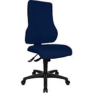 Topstar Bürostuhl TOP POINT, Synchronmechanik, ohne Armlehnen, hohe ergonomische Rückenlehne, blau