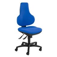 Topstar bureaustoel ERGO POINT, synchroonmechanisme, zonder armleuningen, speciale ergonomisch gevormde wervelsteun, blauw