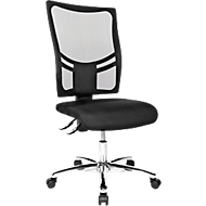 Topstar bureaustoel NETZ POINT 100, zonder armleuningen, knierol, ademende rugleuning, zwart