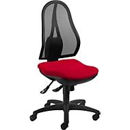 Topstar bureaustoel OPEN POINT SY, synchroonmechanisme, zonder armleuningen, ergonomisch gevormde wervelsteun, rood