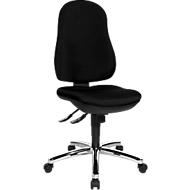 Topstar bureaustoel POINT DELUXE, synchroonmechanisme, zonder armleuningen, hoge rugleuning, ergonomisch gevormde wervelsteun