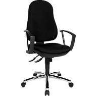 Topstar bureaustoel Point Deluxe, synchroonmechanisme, zonder armleuningen, speciale ergonomisch gevormde wervelsteun