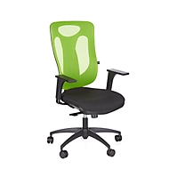 Topstar bureaustoel PRO NET 100, synchroonmechanisme, zonder armleuningen, nieuwe hightech gaas leuning, appelgroen/zwart