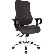 Topstar bureaustoel SITNESS 55, synchroonmechanisme, met armleuningen, ademend aan de lordose, antraciet