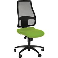 Topstar bureaustoel Syncro Net, synchroonmechanisme, zonder armleuningen, gazen rugleuning, ergonomisch gevormde wervelsteun, groen