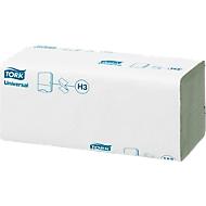 TORK® Universal Handdoekjes, zig-zag gevouwen, 250 x 230 mm, 4000 vel