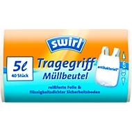Tragegriff-Müllbeutel von Swirl®, 5 Liter, 40 Stück