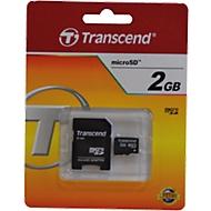TRANSCEND microSD 2GB inkl. Adapter