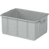 Transportbak, geschikt voor levensmiddelen, hoge-dichtheid polyethyleen (HDPE),L 460 x B 328 x H 202 mm, 23 liter, grijs