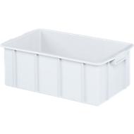 Transportbak, geschikt voor levensmiddelen, hoge-dichtheid polyethyleen (HDPE), L 550 x B 450 x H 163 mm, 31 liter, wit
