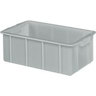 Transportbak, geschikt voor levensmiddelen, hoge-dichtheid polyethyleen (HDPE),L 660 x B 450 x H 225 mm, 50 liter, grijs