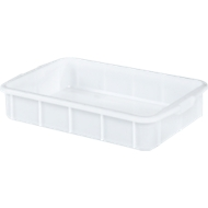 Transportbak, geschikt voor levensmiddelen, hoge-dichtheid polyethyleen (HDPE),L 668 x B 445 x H 122 mm, 28 liter, wit