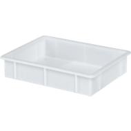 Transportbak, geschikt voor levensmiddelen, polypropyleen,L 445 x B 345 x H 90 mm, 10 liter, wit