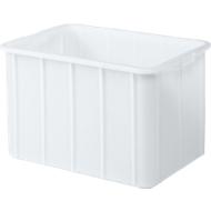 Transportbak, geschikt voor levensmiddelen, polypropyleen,L 668 x B 452 x H 412 mm, 96 liter, wit