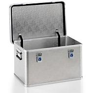 Transportbox, aluminium, L 588 x B 388 x H 328 mm, 60liter, draagvermogen 50 kg, gewicht 5 kg