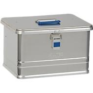 Transportbox Alutec COMFORT 30, aluminium, 30 l, L 430 x B 335 x H 273 mm, stevige deksel