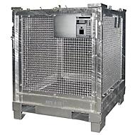 Transportbox BAUER STB 1000, Stahlblech, feuerverzinkt, abschließbar, B 1200 x T 1000 x H 1235 mm