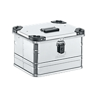 Transportbox Premium, Aluminium, mit Stapelecken, 29 l