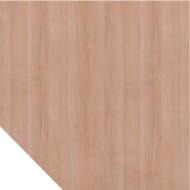 Trapeziumblad ULM, B 1200 x D 1200 mm, notenhoutpatroon
