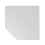 Trapezplatte JENA, Stützfuß, B 1200 x T 1200 x H 720 mm, Gestell verchromt, lichtgrau