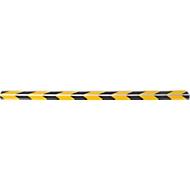 Trapprofielen CleanGrip, plakvariant, voor het markeren van stappen volgens DIN 18040, L 1000 x B 60 x H 30 mm, zwart/geel