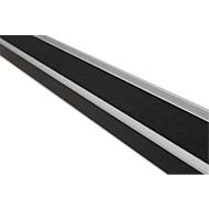 Trapprofielen CleanGrip, plakvariant, voor het markeren van stappen volgens DIN 18040, L 1000 x B 60 x H 30 mm, zwart