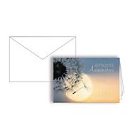 """Trauerkarte """"Aufrichtige Anteilnahme"""", Format B6, 170 x 115 mm, mit Trauerkuverts & doppelten Einlagen, grau, Karton mit Silberfolienprägung, 10 Stück"""