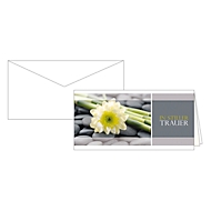 Trauerkarte In stiller Trauer, Motiv Blumen, 10er-Set