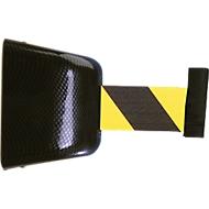 Trekband-muurcassette, Schroefbevestiging, 5 m, band zwart/geel