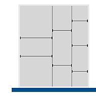 Trenn-/Steckwand-Sortiment, 2 Trennwände, 7 Steckwände, für Serie Verso, für Fronthöhe Schublade 100/125 mm, H 77 mm