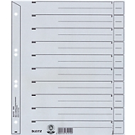 Trennblätter Nr. 1650, DIN A4, grau, 200 g/qm, 100 Stück