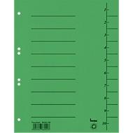 Trennblatt, Intensiv-Karton, DIN A4, grün