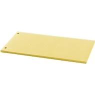 Trennstreifen-Folien, Polypropylen, unifarben, 100 Stück, gelb