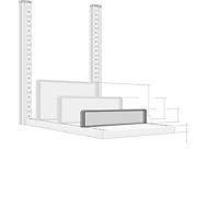 Trennwand, freistehend, für Regaltiefe 400 mm, H 100 mm