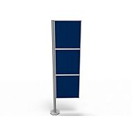 Trennwand Silent Office, 3 Elemente, H 2000 mm, blau