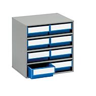 TRESTON Schubladenmagazin 0830, 8 Schubladen, T 300 mm, blau
