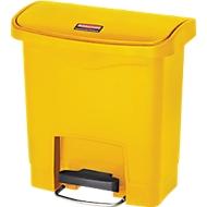 Tretabfalleimer Slim Jim®, Kunststoff, Fassungsvermögen 15 Liter, gelb