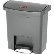 Tretabfalleimer Slim Jim®, Kunststoff, Fassungsvermögen 15 Liter, grau