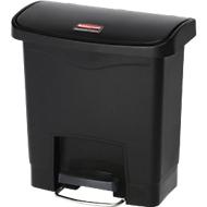 Tretabfalleimer Slim Jim®, Kunststoff, Fassungsvermögen 15 Liter, schwarz