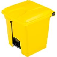 Tretabfallsammler aus Polyethylen 30 l, gelb