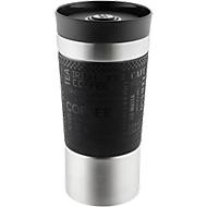 Trinkbecher Metmaxx® CremaExtensa360°, Edelstahl, 360° Deckel, doppelwandig, 350 ml,  Lasergravur 45 x 30 mm