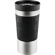 Trinkbecher Metmaxx® CremaExtensa360°, Edelstahl, 360° Deckel, doppelwandig, 400 ml,  Lasergravur 45 x 30 mm