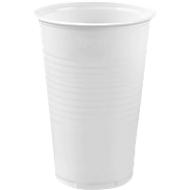Trinkbecher weiß, 0,2 Liter, 100 Stück