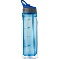 Trinkflasche DOUBLE, Tritan, 550 ml, ausklappbares Mundstück, doppelwandig, königsblau