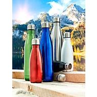 Trinkflasche, Silberfarben, Standard, Auswahl Werbeanbringung optional