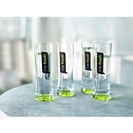 Trinkgläser Set rastal Fresh, 4-teilig, Inhalt jew. 0,25 l, grüner Boden & Dekor, in Geschenkkarton