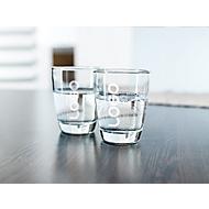 Trinkglas-Set Tiara, je 200 ml Fassungsvermögen, Werbeanbringung einfarbig, 4 Stück